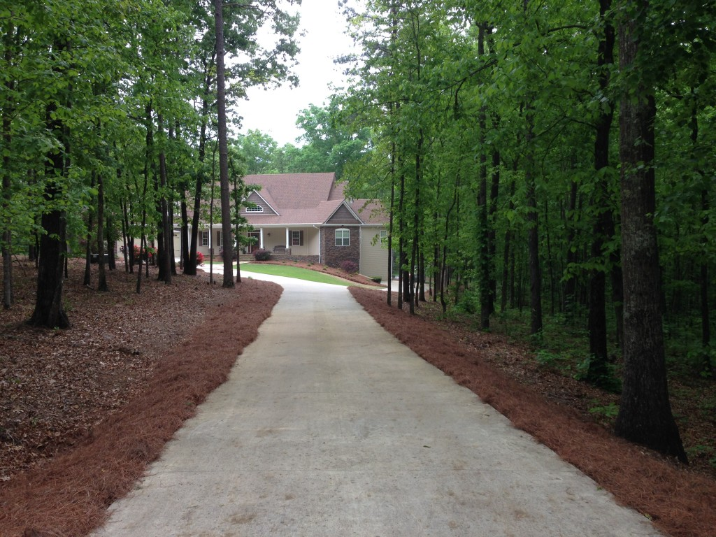 Pine Straw & New Flower Beds